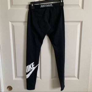 Nike Spell Out Swoosh Just Do It Leggings Black S